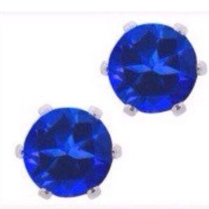 Sapphire Crystal stud earrings Medium size